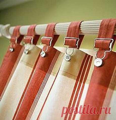 Интересные держатели для штор / Шторы / Модный сайт о стильной переделке одежды и интерьера