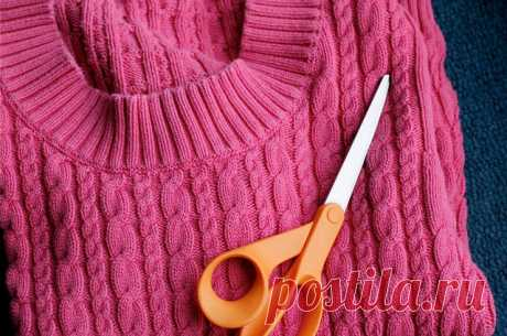 Новая жизнь старых вещей: 10 теплых и уютных вещей из старого свитера — 1