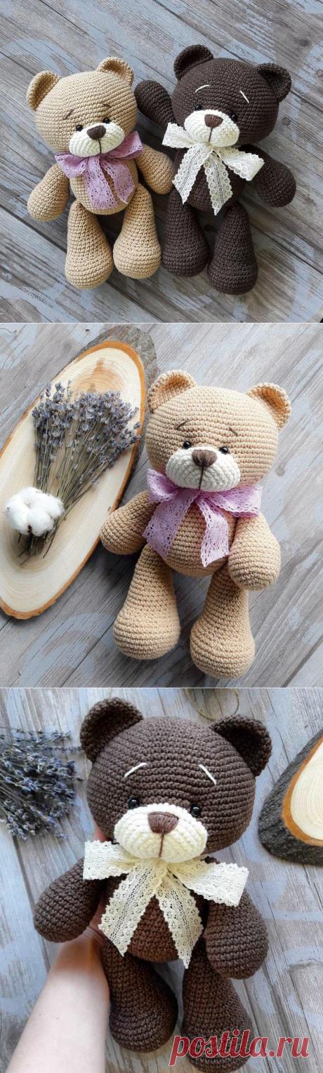 Медвежонок амигуруми схема крючком | AmiguRoom