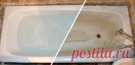 Доступный способ очистить ванну со стойкими загрязнениями, не используя агрессивную химию