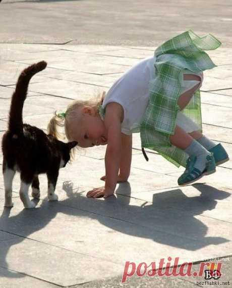 Детишки с животными
