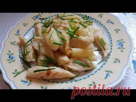 Галушки с картошкой.