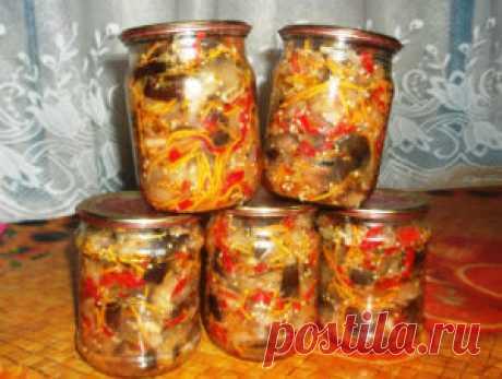 Лучшие кулинарные рецепты - Баклажаны по — корейски