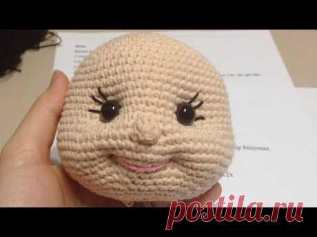17# Amigurumi bebeklerde yüz şekillendirme / ağız göz çukuru ve burun yapımı