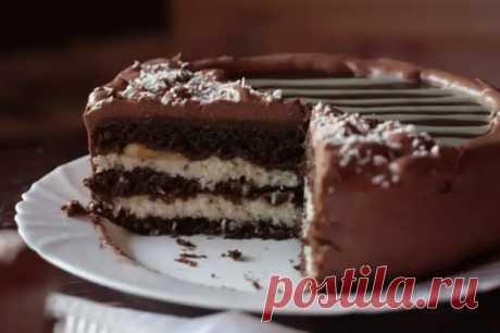 Торт Баунти: шоколадный десерт с экзотическим вкусом кокоса - Скатерть-Самобранка - медиаплатформа МирТесен