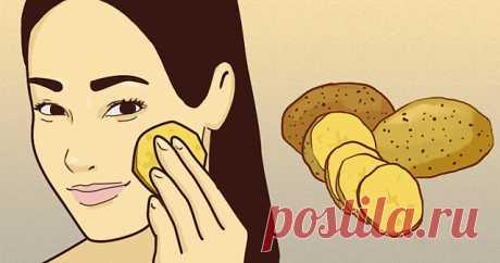 Она натирает лицо ломтиком картофеля каждое утро. Узнав зачем, я стала делать так же!