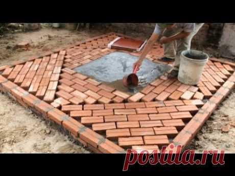 Great Building Idea From Terracotta Brick - Unique Brick Yard Construction Design In The Garden