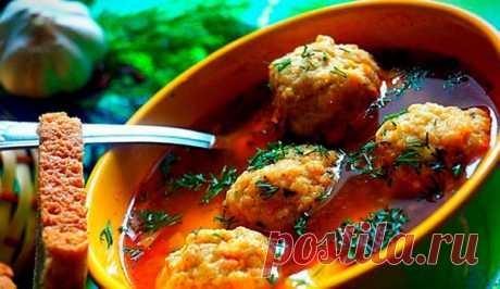Томатный суп с рыбными фрикадельками  Расчёт на - 3-4 литра.  Ингредиенты: Показать полностью…
