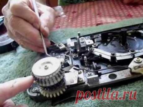 Как разобрать и почистить основную каретку ( машина Сильвер)