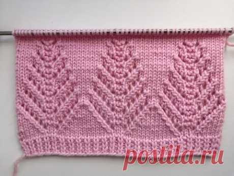 Красивый узор спицами для свитера или кардигана.  Beautiful Knitting Stitch Pattern For Cardigan.
