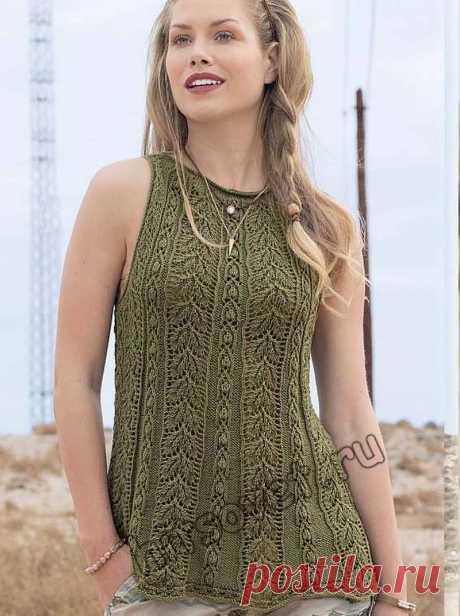 Топ трапеция - Хитсовет Красивый модный вязаный топ трапеция на лето для женщин со схемами и пошаговым бесплатным описанием вязания.