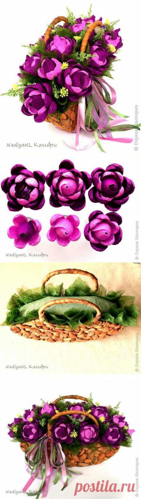 Dahlias and process of assembly of the MK basket part 2 | Candy paradise