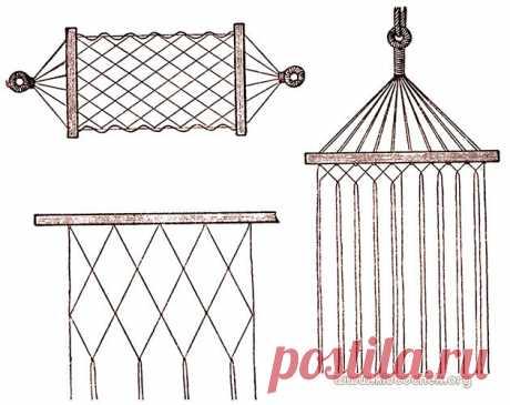 Плетение гамака / www.klubochek.org