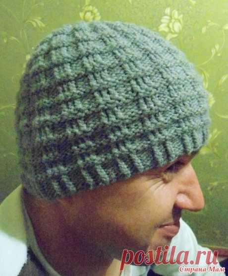 Шапка спицами для мужчины — Christian's hat   Вязание Шапок Спицами и Крючком
