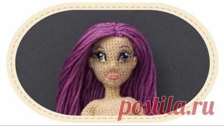 Кукла крючком Виолетта , часть 6 (Лицо). Crochet doll Violetta, part 6 (Face)