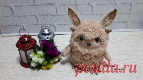 """Текстильная игрушка """"Fluffy"""" - зверь неизвестной породы. Мастер класс.   Юлия Жданова   Яндекс Дзен"""