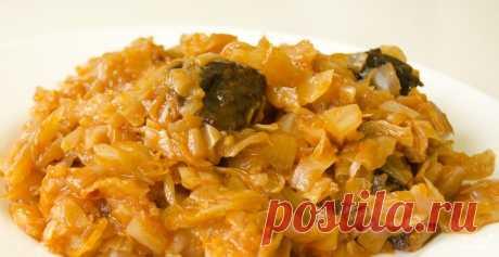 Тушеная капуста для похудения - пошаговый кулинарный рецепт с фото на Повар.ру