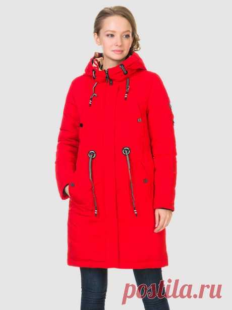 Пуховик текстиль, цвет красный, арт. 08901009 - цена 4990 руб. - купить в магазинах TOTOGROUP