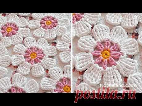 Crochet flower EASY pattern
