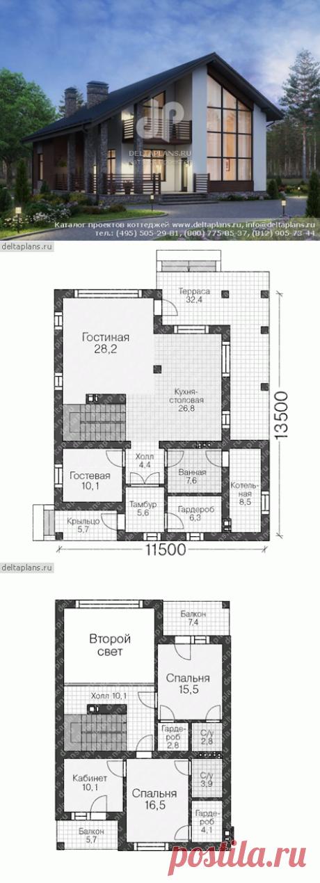 Проект пенобетонного дома из теплой керамики № R-172-1P