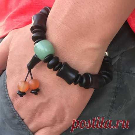 Natural Agate Men's Bracelet Bamboo Bracelet Crystal   Etsy