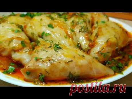 Gipsy stuffed cabbage!!! Stuffed cabbage from cabbage with meat. Gipsy cuisine.