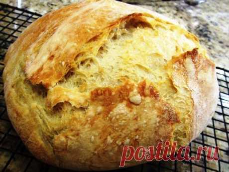 Простой и вкусный домашний хлеб в духовке Испеките белый вкусный домашний хлеб в духовке – очень простой рецепт всего из 4 ингредиентов