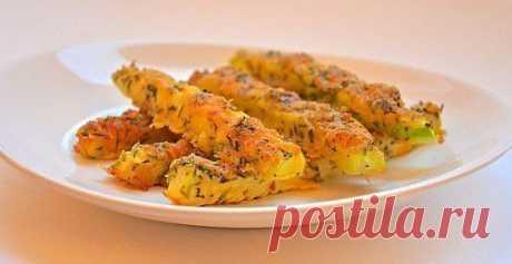 Вкусные кабачки в панировке из сыра