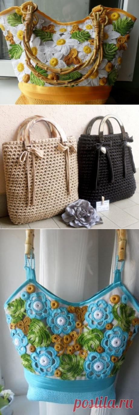 Вязаные сумки. Идеи