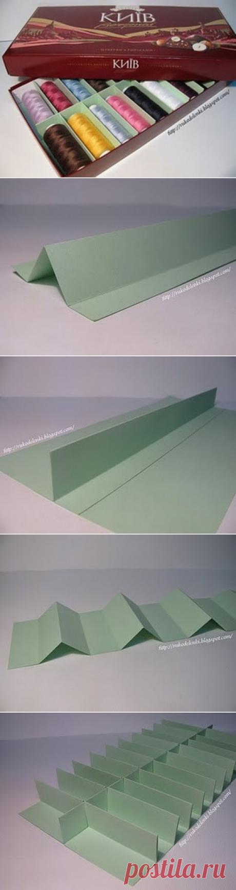 Коробочка для хранения ниток