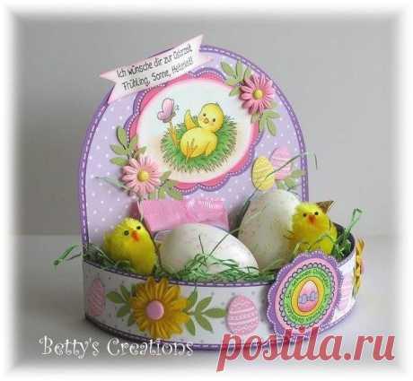 Пасхальная подставка для яиц  Источник: https://stempeleinmaleins.blogspot.ru/search?max-resul..