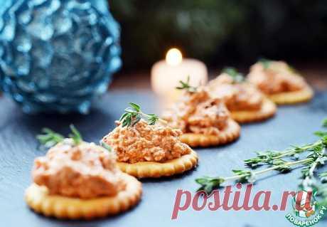 Крекеры с ароматным сырным паштетом Кулинарный рецепт