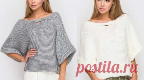 Чем проще, тем моднее: стильный пуловер платочной вязкой — SamantaWay