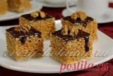 Торт из вафельных коржей: рецепт с фото