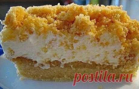 Неимоверный тортик Нежное, рассыпчатое песочное тесто, сладкая творожная начинка! — ДОМАШНИЕ