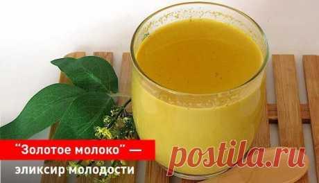 """""""Золотое молоко"""" - эликсир молодости и здоровья. Как приготовить дома"""