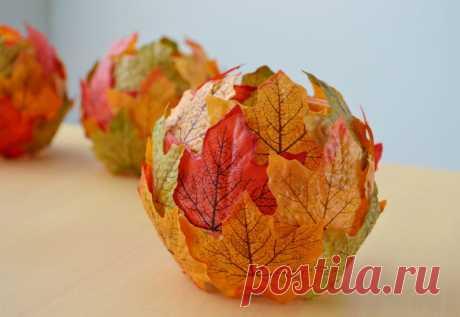 Como hacer adornamientos para la casa de las hojas otoñales
