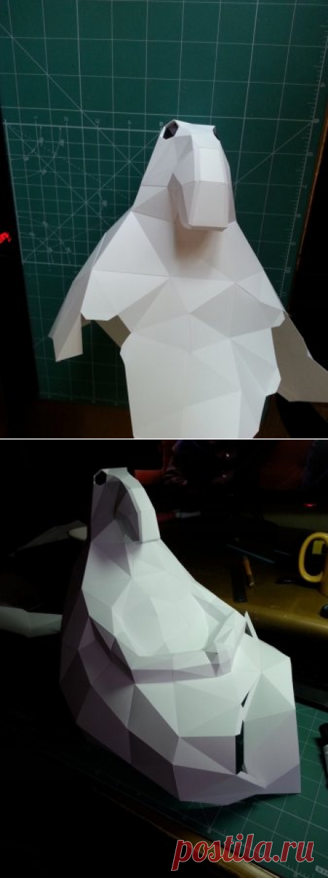 Ждун из бумаги, распечатать и склеить фигуру Ждун