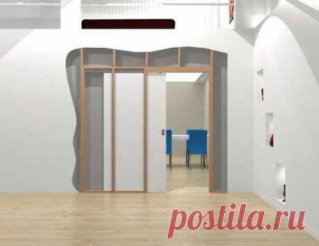 Как сделать раздвижные двери скрытые в стене - Квартира, дом, дача.