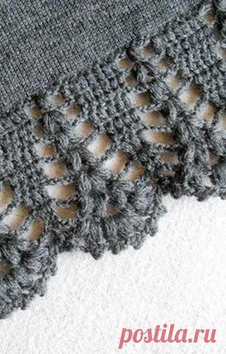 Узор для вязания каймы крючком - для юбки