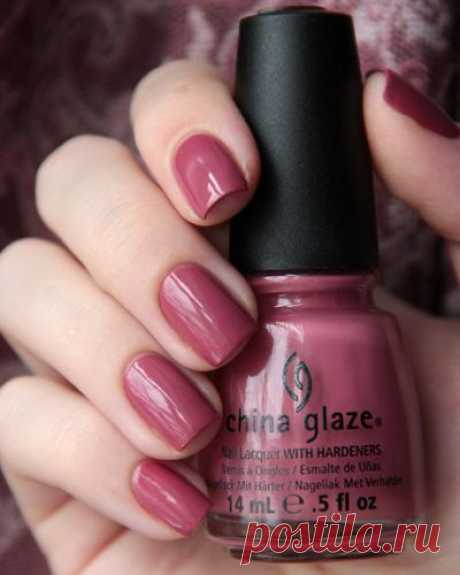 Fifth Avenue, #China_Glaze - dark rosy mauve (antique pink) creme #nail_polish \/ lacquer   @andwhatelse