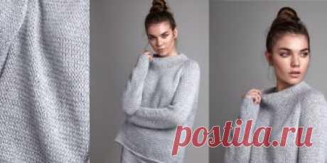 Модный свитер Calmer Модный свитер женский, вязаный спицами, с описанием из коллекции Calm. Стильный женский свитер оверсайз с рукавом реглан - невероятно модный в новом сезоне 2018 года - теперь легко связать спицами своими руками.