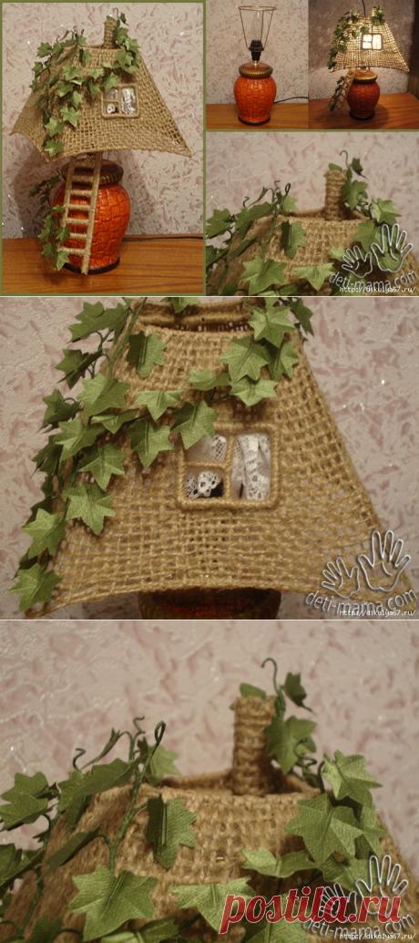 Чудесный абажур для настольной лампы - Nebka.Ru