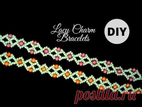 Lacy Charm beaded bracelets. DIY beads bracelets-elegant beaded pattern
