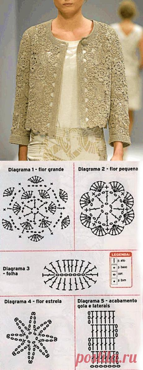 My EYELETS: Jacket flower motives
