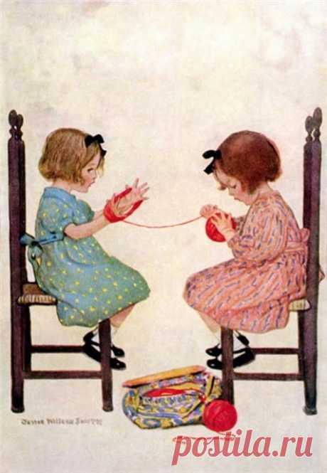 Удивительные иллюстрации Джесси Уилкокс Смит/Jessie Willcox Smith (1863-1935)