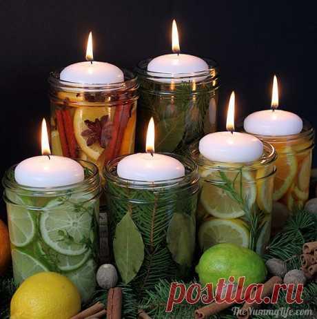 Новогодний декор из ягод, шишек и орехов! » Женский Мир