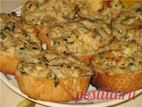 Запекаем бутерброды с рыбными консервами | Любимые рецепты