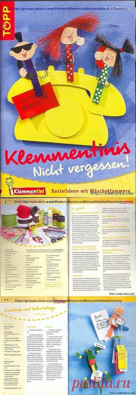 """""""Веселые clothespegs - ideas декора"""".Журнал on needlework."""