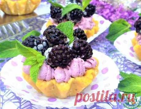 """Пирожные """"Корзиночки"""" с ежевичным муссом – кулинарный рецепт"""